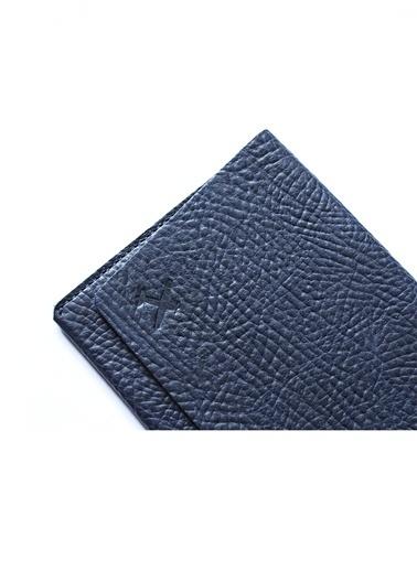 Leather & Paper Deri Pasaport Kılıfı & Kartlık Lacivert